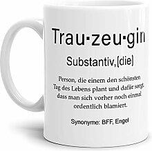 Tassendruck Tasse mit Definition Trauzeugin -