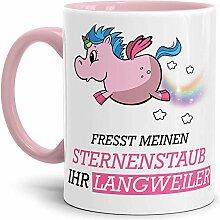 Tassendruck Unicorn/Einhorn/Farbtasse Innen und
