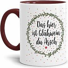 Tassendruck Weihnachts-Tasse mit Spruch Glühwein