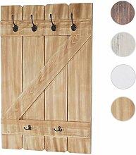 Tassenhalter Aquila, Hängeregal Tassenbrett Wandboard, 6 Haken 91x60cm ~ Kiefer