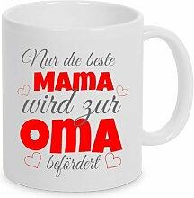 TassenKing(TM) - Nur die beste Mama wird zur Oma befördert - Kaffeetasse als Geschenkidee. Beste Mama wird zur Oma. Geschenk Mama Tasse. Beste Mama Kaffeetasse
