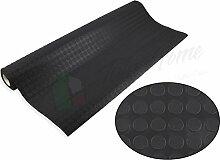 Tata Home Beschichtung Boden PVC gestempelt gerändelt rutschfest flexibel und robust Breite 100cm Länge 20m Farbe schwarz