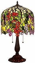 TATANE E27 Tiffany-Lampen, Glasmalerei Rote