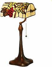 TATANE E27 Tiffany-Lampen, Glasmalerei Tischlampen