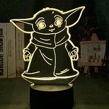 Tatapai 3D Illusion Lamp Led Night Light Star Wars