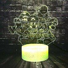 Tatapai 3D Illusion Lamp Led Night Light Super