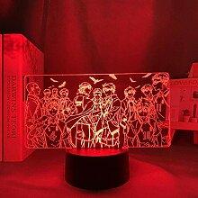 Tatapai 3D Nachtlicht Japanische Anime Illusion