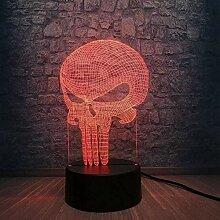 Tatapai 3D Touch Nachtlampe Zahn Schädel Lampe