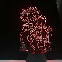 Tatapai Natsu Grey und Lucy Anime Lampe Anime