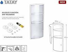 Tatay 4480101Eckregal mit 2Türen Kunststoff