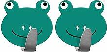 Tatkraft Frogs | Stabile Handtuchhaken Badezimmer,