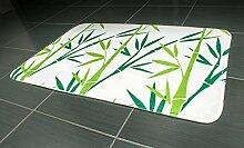 Tatkraft grün Bambus Badematte, 50x 80cm Ultra Weiche rutschfeste Mikrofaser