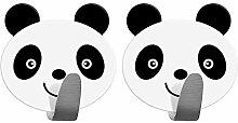 Tatkraft Panda Stark Selbstklebend Edelstahl