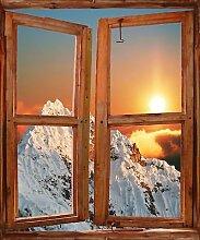 TATOUTEX Aufkleber L Auge Fenster Deko Berg OEM 736, 50x60cm