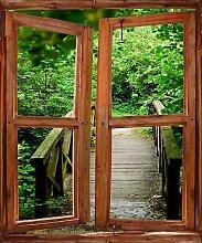 TATOUTEX Aufkleber L Auge Fenster Deko GATEWAY OEM 720, 60 x 80 cm