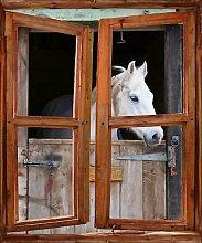 TATOUTEX Aufkleber L Auge Fenster Deko Pferd OEM 719, 60 x 80 cm