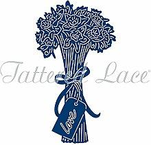 Tattered Lace Daffodil Blumenstrauß, silber