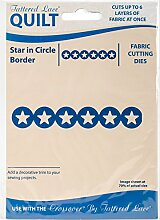 Tattered Lace Quilt Die Cut Sterne in Kreis