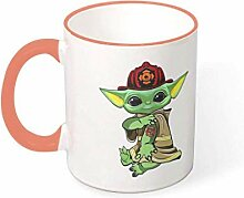 Tattoo Feuerwehrmann Becher Keramik Teetasse