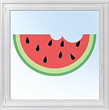 Tattoo-Folie Fenster-Sticker | selbstklebende Fensterfolie - Sichtschutz | hochwertige Glasdekorfolie - Klebefolie für Fenster in Küche, Bad u. Wohnzimmer | Fenstertattoo 120 x 60 cm - Sweet Melon