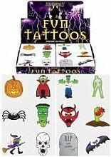 Tattoos zum Aufkleben für Halloween (24 Stück) - 1 Packung