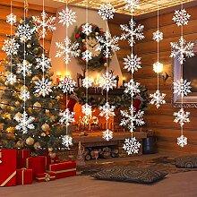 Tatuo 78 Stück Weihnachten Schneeflocke Hängende