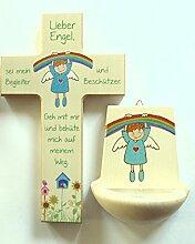 2 Weihwasserkessel Weihwasserbecken Kinderzimmer aus Holz Mit dir