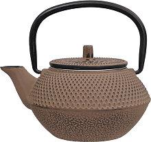 Taupe Gusseisen Teekanne - Gusseisen - 13,5 x 11,5