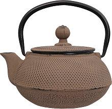 Taupe Teekanne aus Gusseisen - Gusseisen - 600ml
