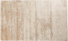 Taupefarbener getufteter Teppich 140x200
