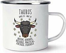 Taurus Horoskop Retro Emaille Becher