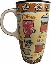 Tawny Blumenbecher Kaffeehaferl Große
