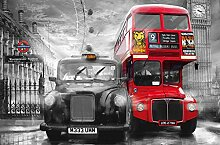 Taxi and bus // Giant Art 175 x 115 cm //