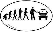 Taxi Taxifahrer Cab Minicab EVOLUTION Aufkleber