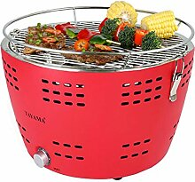 Tayama TYQ-001 Portable Charcoal Grill, Red