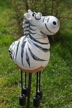 TB Gartenkugel Keramik Zebra Tierfigur Garten