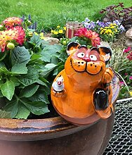 TB Gartenstecker Gartenkugel Blumenstecker Katze