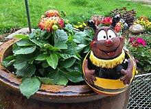 TB Keramik Gartenkugel Biene fliegend 17 cm
