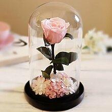 TBB-Blumen Rose Trocken Blumen falsche Blumen handgemachten Blumen Geschenk Schmuck DIY Roses Forever Blumen, Rosa