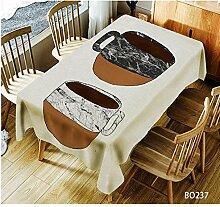 TBCZHB 3D Art Printing Dining Tischdecke für
