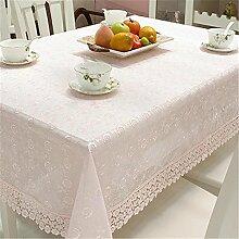 TBCZHB Häkelarbeit Vintage Lace Design Tischdecke