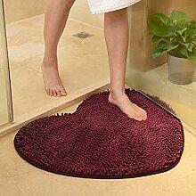 TBEPDE Chenille Love Heart Fußmatte, Geben Sie
