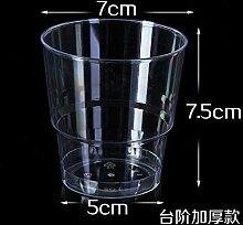 TBSB 200 ml Einwegbecher dicken harten Plastik Becher Aviation transparentes Wasser Schüssel, 100er-Pack, 200 ML dick nur 80