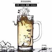 TBSB glas bier - becher, kaffee, tee, kaffee, latte macchiato, cappuccino 410ml,drei