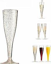 Tccic Champagnerflöten aus Kunststoff,