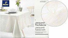 Tchibo TCM Jacquard Tischdecke Tafeldecke seidig