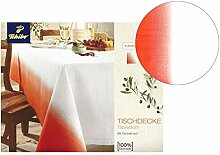 Tchibo TCM Tischdecke, Farbverlauf Orange-weiß,