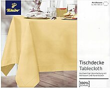 Tchibo TCM Tischdecke mit Hohlsaum, Baumwolle,