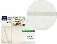 Tchibo TCM Tischdecke Tafeldecke Creme eingewebte