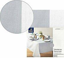 Tchibo TCM Tischdecke Tafeldecke Weiß eingewebte